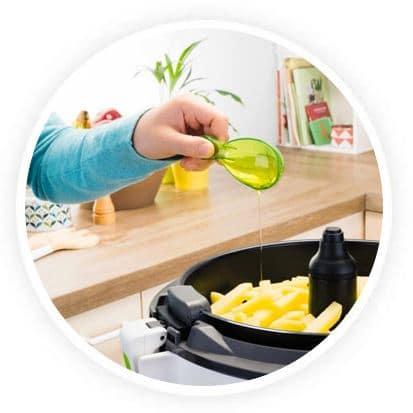 Alimentos cocinados sin aceite