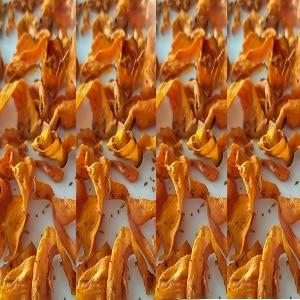 Chips zanahoria en freidora de aire caliente