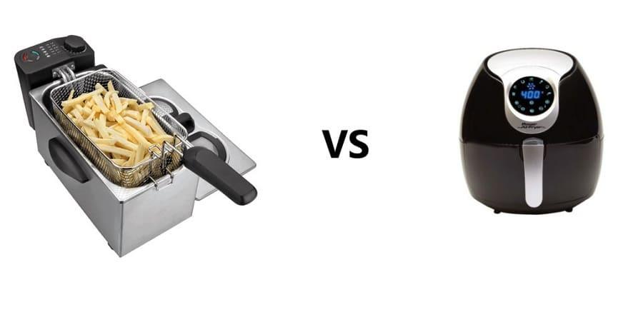 Diferencia entre freidora de aire caliente y con aceite