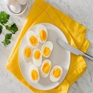 Huevo duro en freidora sin aceite