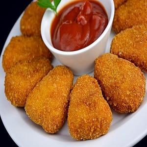 Nuggets de pollo casero