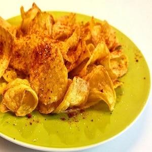 Receta de patatas chips en freidora de aire caliente